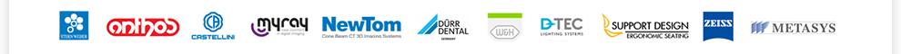 sterweber, Antos, Castellini MyRay NewTom, Durr Dental, W&H, DTEC, Zeiss, Metasys
